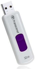 Флешка USB TRANSCEND Jetflash JF530 64Гб, USB2.0, белый и синий [ts64gjf530]