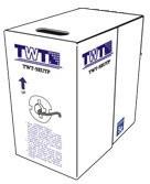 Кабель информ. Lanmaster (TWT-5EUTP) кат.5е U/UTP 4X2X24AWG PVC внутр. 305м сер.