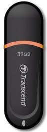 Флешка USB TRANSCEND Jetflash JF300 32Гб, USB2.0, черный и оранжевый [ts32gjf300]