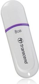 Флешка USB TRANSCEND Jetflash 330 8Гб, USB2.0, белый и фиолетовый [ts8gjf330]