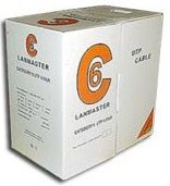 Кабель информ. Lanmaster (LAN-6EUTP-BL) кат.6 U/UTP 4X2 PVC внутр. 305м син.