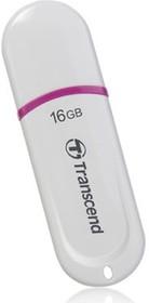 Флешка USB TRANSCEND Jetflash 330 16Гб, USB2.0, белый и фиолетовый [ts16gjf330]