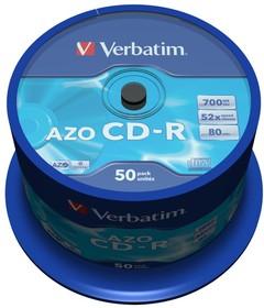 Оптический диск CD-R VERBATIM 700Мб 48x, 50шт., cake box [43343]