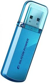 Флешка USB SILICON POWER Helios 101 4Гб, USB2.0, синий [sp004gbuf2101v1b]