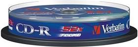 Оптический диск CD-R VERBATIM 700Мб 52x, 10шт., cake box [43437]