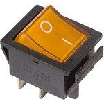 IRS-201-1C3 (желтый), Переключатель с подсветкой ON-OFF (15A 250VAC) DPST 4P