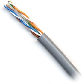 Кабель сетевой UTP HQ Cu 4 Pair UTP, cat.5E, 305м, 4 пары, 0.48мм, медь, одножильный (solid), 1 шт