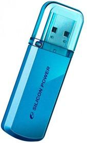 Фото 1/2 Флешка USB SILICON POWER Helios 101 32Гб, USB2.0, синий [sp032gbuf2101v1b]
