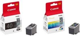 Набор картриджей CANON PG-40+CL-41 черный / трехцветный [0615b043]