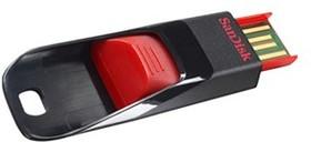 Флешка USB SANDISK Cruzer Edge 32Гб, USB2.0, красный и черный [sdcz51-032g-b35]