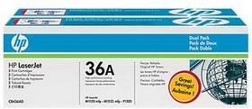 Двойная упаковка картриджей HP 36A CB436AF, черный