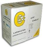 Кабель информ. Lanmaster (NM-UTP5E4PR-CU) кат.5е U/UTP 4X2X25AWG PVC внутр. 305м сер.