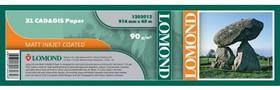 """Бумага Lomond 1202112 36""""(A0) 914мм-45м/90г/м2/белый матовое для струйной печати"""