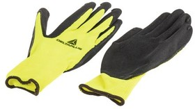VV73308, Polyester Latex-Coated General Purpose Gloves, size 8, Yellow