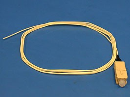 12-0FM1F40-1.5M/50/125 SC/PC 0.9 mm Pigtail PVC, Шнур оптический SC pigtail многомодовый, Simplex,1.5м