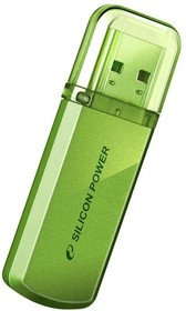 Фото 1/2 Флешка USB SILICON POWER Helios 101 32Гб, USB2.0, зеленый [sp032gbuf2101v1n]