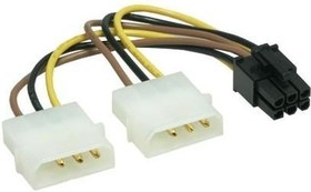 Кабель питания, Molex - PCI-E 6pin, 0.15м