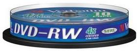 Оптический диск DVD-RW VERBATIM 4.7Гб 4x, 10шт., cake box [43552]