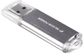 Флешка USB SILICON POWER Ultima II-I Series 16Гб, USB2.0, серебристый [sp016gbuf2m01v1s]
