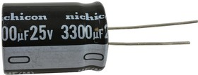 Фото 1/2 UHE1E332MHD6TN, ALUMINUM ELECTROLYTIC CAPACITOR, 3300UF, 25V, 20%, RADIAL