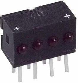 555-4009F, LED Uni-Color Red 650nm 8-Pin Bulk