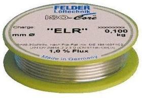 """Sn99.3Cu0.7 Тр ISO-Core """"ELR"""" (1.5мм), Припой олово-медь, катушка 100гр"""