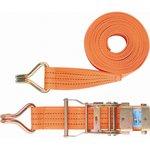 54385, Ремень багажный с крюками, 0,05х6м, храповый механизм, Россия