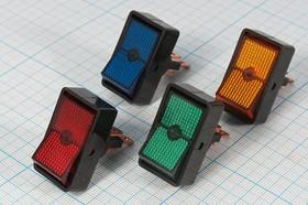 Фото 1/2 Клавишный выключатель зелёный,с подсветкой 12В/20А, c фиксацией, 2859 ПКл\ 3T\20А12В\ON-OFF\ILзел\ d12/34x19,5\ASW-11D