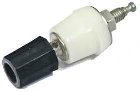 Комбинированная клемма приборная 4мм на панель с боковым гнездом под кабель 2мм,чёрная, №2743 B клемма приб 4,0&2,0\раз&каб\ чер\18x55\пл\\З