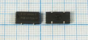 Кварцевый генератор 27МГц 3.3В, HCMOS в корпусе SMD 10.5x5.8мм , гк 27000 \\SMD10558P4\CM\3,3В\ SG-636PCE-C\EPSON