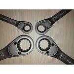Фото 9/9 Набор ключей гаечных комбинированных с трещоткой из 4-х предметов 2303949