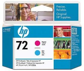Печатающая головка HP №72 C9383A, пурпурный / голубой