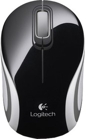 Мышь LOGITECH Mini M187 оптическая беспроводная USB, черный и серый [910-002731]