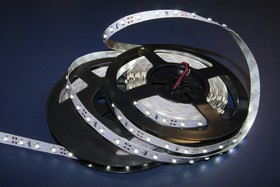 Фото 1/4 141-356, Лента светодиодная 1 метр, 60SMD(3528)/m, IP65, 12V в силиконе, 8 мм,теплый белый