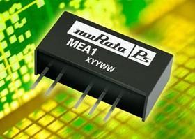 MEA1D1205SC, DC/DC преобразователь, 1 Вт, вход 10.8-13.2В, выход 1: 5в/100мА, выход 2: -5в/-100мА, SIP