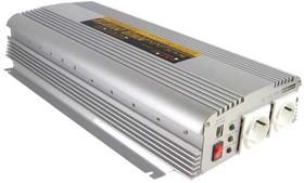 Фото 1/4 A301-1K7-F3, DC/AC инвертор, 1500Вт, вход 12В, выход 230В(преобразователь автомобильный)
