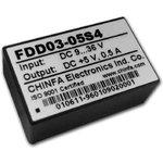 FDD03-05S4, DC/DC преобразователь, 3Вт, вход 9-36В, выход 5В/500мА