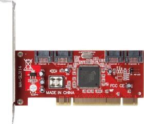 Фото 1/2 Контроллеры IDE/SATA/SCSI контроллер SIL3114, PCI [asia pci 3114 4p sata]
