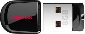 Флешка USB SANDISK Cruzer Fit 16Гб, USB2.0, черный [sdcz33-016g-b35]
