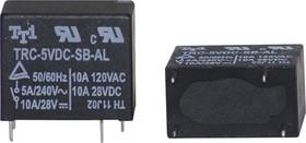 TRC-5VDC-SC-AL, Реле 1зам. 5V / 5А, 240VAC
