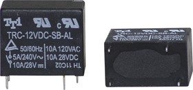 TRC-12VDC-SB( SC)-AL, Реле 1зам. 12V / 5А, 240VAC