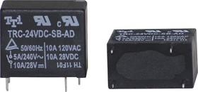 TRC-24VDC-SC-AL, Реле 1 зам.24V/5A, 240VAC