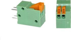 DG141V-2.54-02P, Клеммник нажимной, 2-контакный, шаг 2,54мм