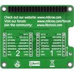 Фото 2/4 MIKROE-1879, Pi 2 click SHIELD, Плата расширения для подключения модулей mikroElektronika серии click (mikroBUS) к Raspber Pi B+/ 2
