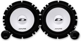 Колонки автомобильные ALPINE SXE-1750S, компонентные, 280Вт