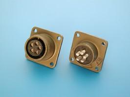 MS3102E-14S-5S, Разъём серии MS 5 контактов, гнездо на блок