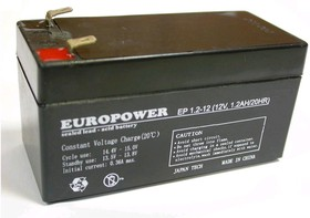 EP1.2-12 (TP1.2-12), Аккумулятор свинцовый 1.2Ач-12В 97x45x53