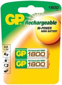 Аккумулятор GP 180AAHC, 2 шт. AA, 1800мAч