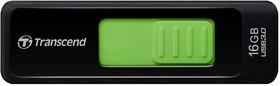 Флешка USB TRANSCEND Jetflash 760 16Гб, USB3.0, черный и зеленый [ts16gjf760]
