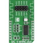 Фото 2/5 MIKROE-1892, I2C 1 Wire click, Мост для двухстороннего преобразования между I2C masters и 1-Wire slave устройствами.